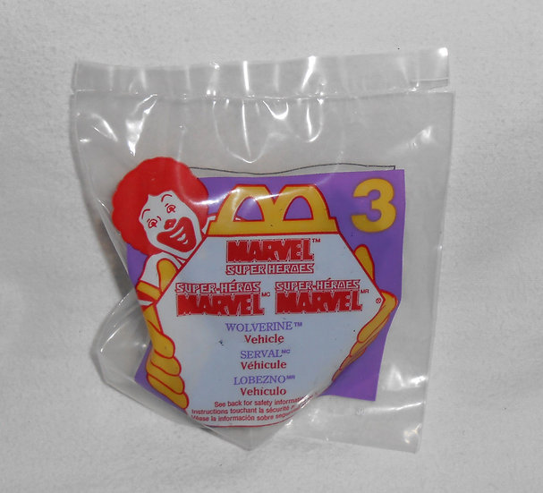 Vintage Wolverine #3 McDonalds Happy Meal Marvel Super Hero Vehicle 1996