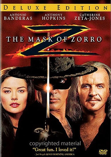he Mask of Zorro. Widescreen, Deluxe Edition. (DVD 2005)