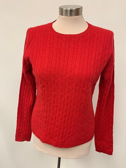 Valerie Stevens Petite Red Cashmere Sweater sz PL