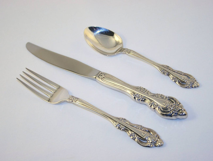 3 pc. Vintage SILVER ARTISTRY Fork Knife and  Spoon by Community