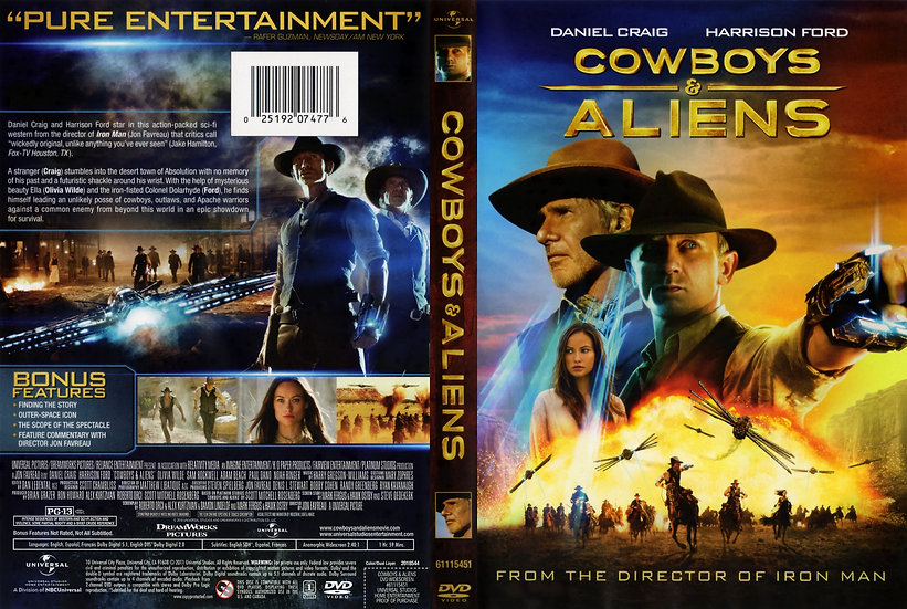 Cowboys and Aliens (DVD, 2011) Harrison Ford and Daniel Craig
