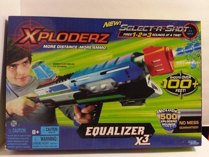 NIB  XPLODERZ EQUALIZER X3 TOY GUN