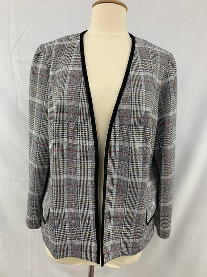 Vintage Marty Gutmacher Women's Jacket Black Checks
