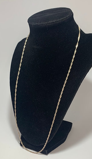 Sterling Silver Twist Chain Necklace .925 Italy