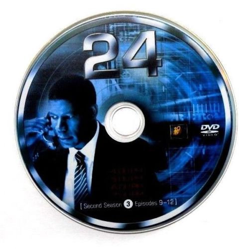 USED- 24 Second Season Dvd Replacement disc 3 ONLY