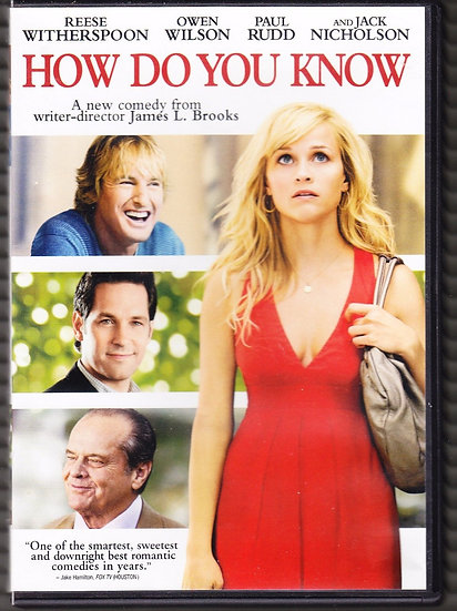 How Do You Know (DVD, 2011) Reese Witherspoon, Owen Wilson, Jack Nichols