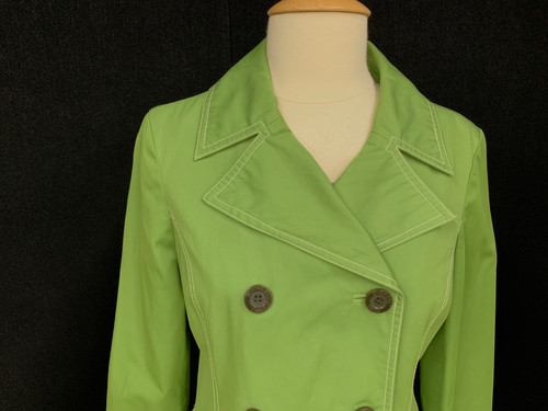 4e89024f8a Michael Kors Women's size small Spring Green Trench Coat Jacket