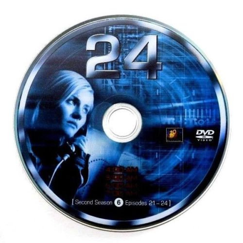 USED- 24 Second Season Dvd Replacement disc 6 ONLY