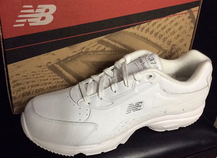 NIB New Balance Men's Leather Athletic Walking Shoes White C