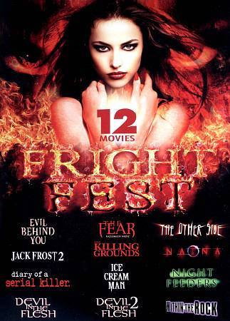 Fright Fest 12 movies 3 DISC DVD SET