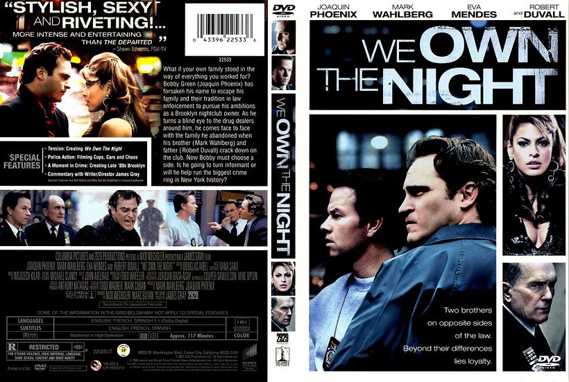 We Own The Night (DVD, 2008)  Joaquin Phoenix/Donnie Wahlberg/Eva Mendes