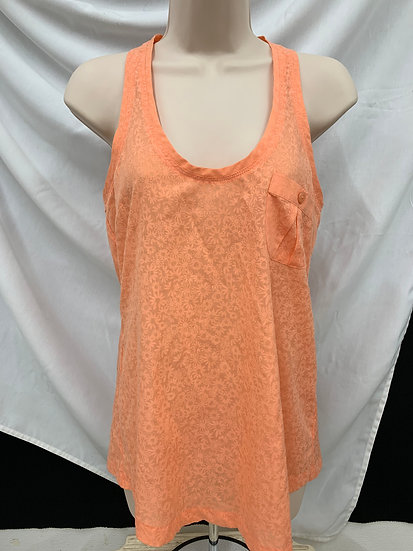 QUICKSILVER orange Estilo size XS Short Sleeve Flower SleevelessTop