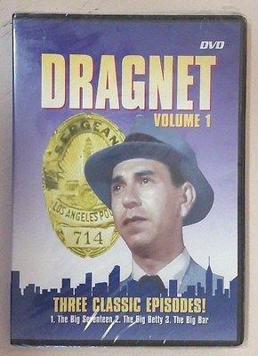 3 Dragnet Volume 1 Volume 2 Volume 3 (DVD DIGVIEW Productions)  3 episodes each