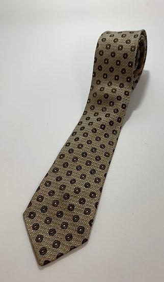 """Vintage Subera Brown Dot Pattern Skinny Tie 55"""""""