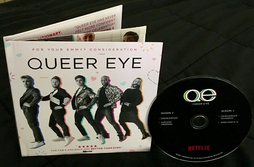 2 FYC 2019 QUEER EYE DVD and Atypical Pressbook EMMY Netflix