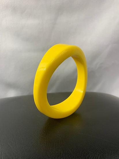 Yellow Abstract Vintage Bangle