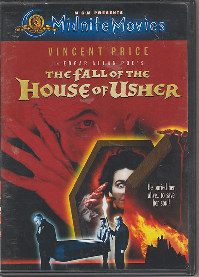 The Fall of the House of Usher-1960  (DVD, 2001)  Vincent Price