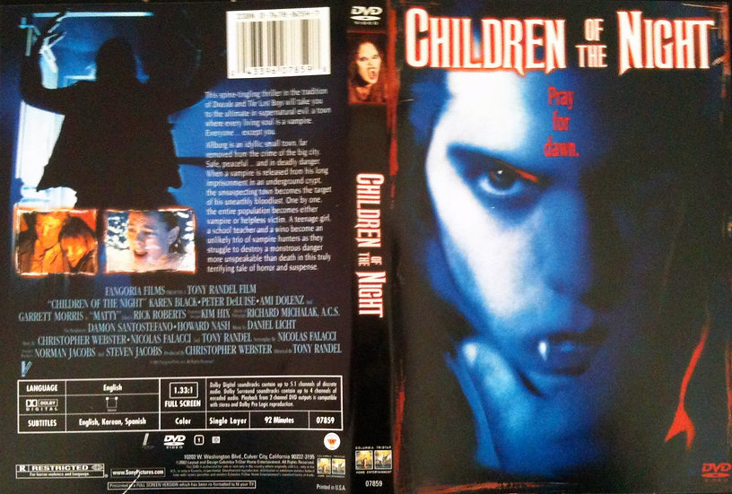 Children of the Night (DVD, 2003) RARE/OUT OF PRINT Karen Black Peter DeLuise Am