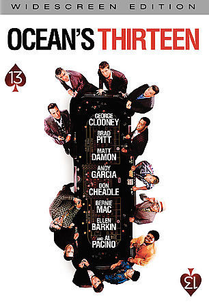 OCEANS THIRTEEN (DVD) George Clooney, Brad Pitt, Mat Damon