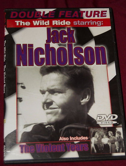 The Wild Ride/The Violent Years-Jack Nicholson (DVD 2006,slim case)