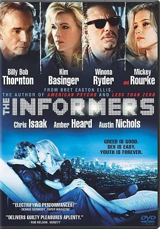 The Informers (DVD, 2009) Billy Bob Thornton, Kim Basinger, Winona Ryder
