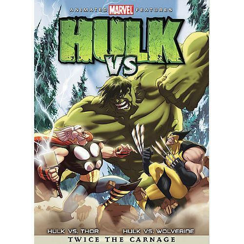 MARVEL (DVD, 2009) ANIMATED FEATURES HULK VS-Twice The Carnage -DVD MOVIE THOR W