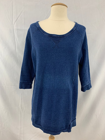 Alternative - Women's size M Blue 3/4 Sleeve Pullover Sweatshirt