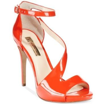 INC International Concepts Womens Suzi Leather Open Toe Tangerine Size 6