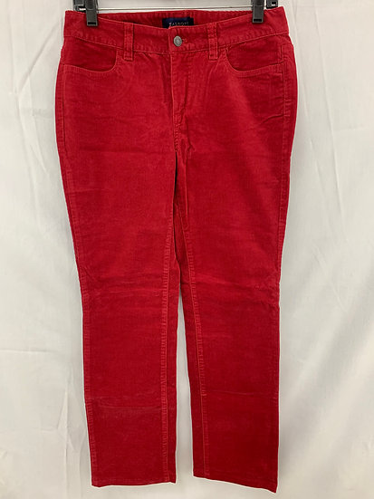 Talbots Women sz 4 Crimson Corduroy Signature 4 Pocket Pant Cotton Stretch Jeans