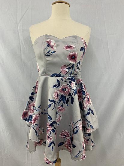 NWT Charlotte russe Women's size M Gray Blue Pink Sleeveless Dress