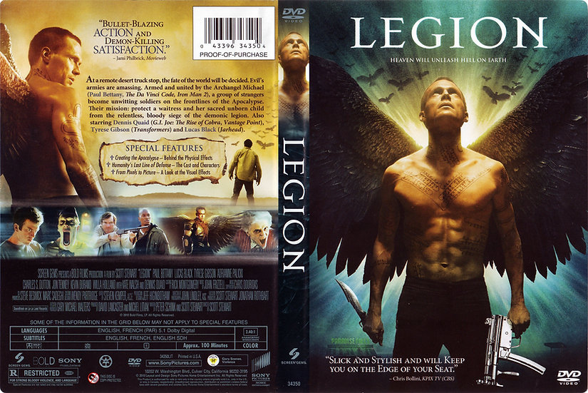 Legion (DVD 2010), Paul Bettany, Dennis Quaid, Tyrese Gibson