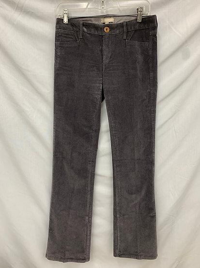 Banana Republic Womens size 25 Dark Gray Corduroy Pants Jeans Bootcut Trousers