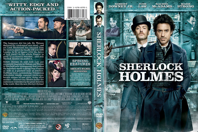 Sherlock Holmes (DVD, 2009) Robert Downey Jr. Jude Law