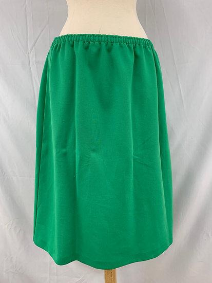 Homemade Vintage Women's Plain Green Skirt Closed Split