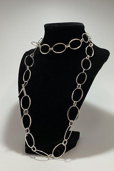 """RLM Studio Sterling Silver Oval Link Belt/Necklace 36"""""""