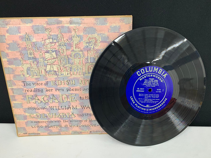 Facade Poems by Edith Sitwell, Music by William Walton LP Microgroove