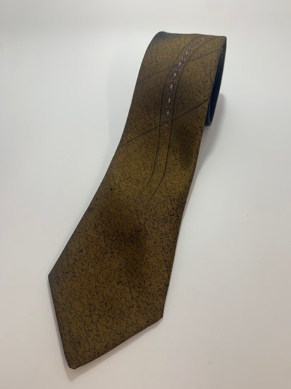 """Vintage Barcelli Made in Canada Polyester Skinny Tie 60"""""""