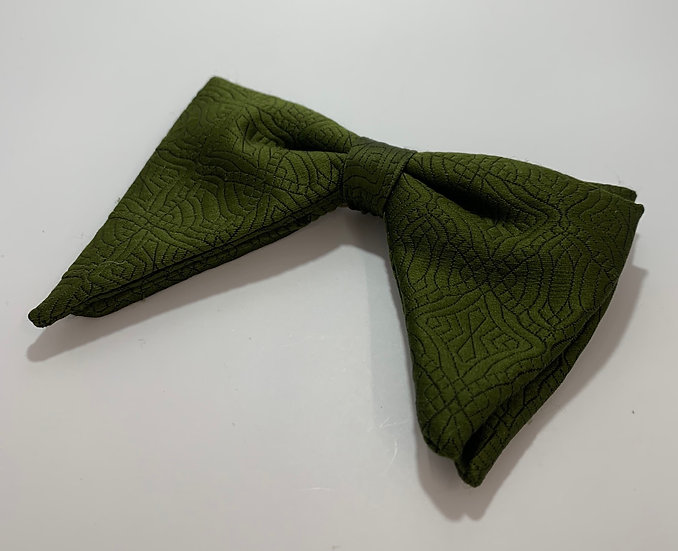 Vintage Prince Consort Green Clip on Bow Tie