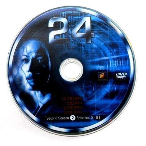 USED- 24 Second Season Dvd Replacement disc 2 ONLY   In blue case
