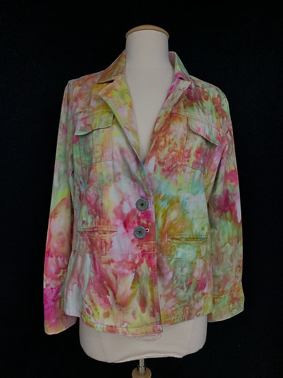 STO Womens size M JACKET size M Color Wash Jacket green pink white  Susquehanna