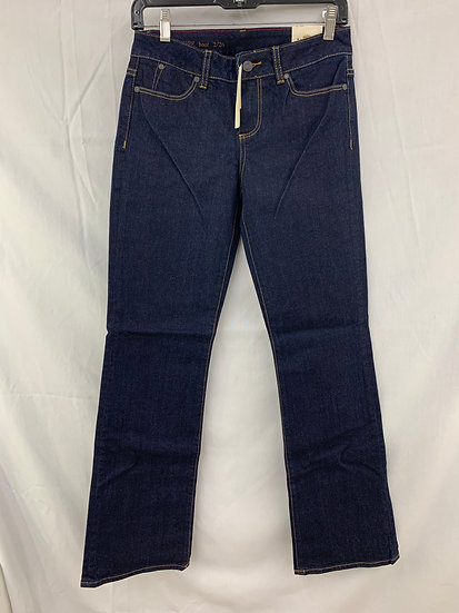 NWT Talbots Women sz 2 Signature Boot Cut 5 Pocket Midnight Blue Jeans Pant