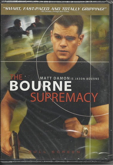 The Bourne Supremacy (DVD, 2004, Widescreen) Matt Damon