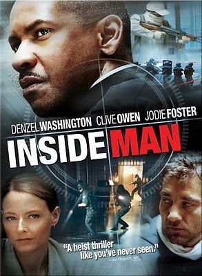 nside Man (DVD, 2006) Denzel Washington, Jodie Foster, Clive Owen, Willem Dafoe