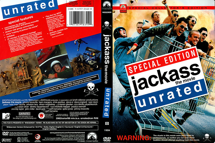 Jackass: The Movie: Unrated (DVD, 2002 Special Collector's Edition Regio