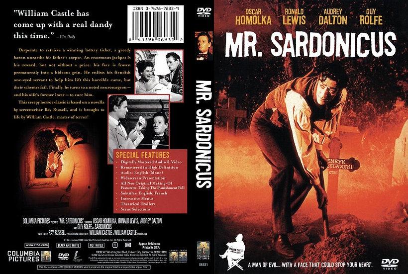 NEW Mr. Sardonicus (DVD 2002 Black & White) RARE OOP Oscar Homolka, Ronald Lewis