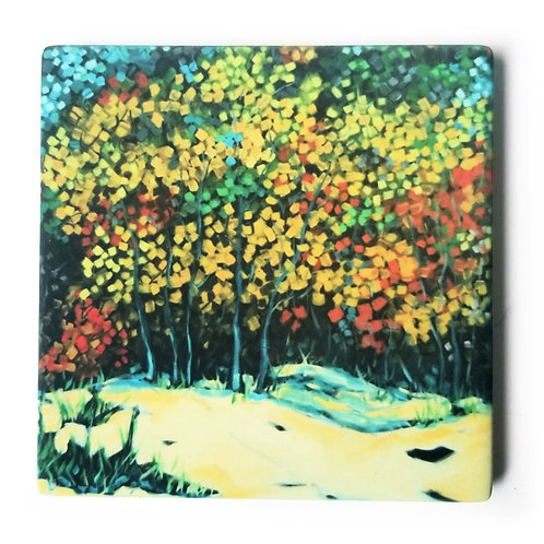 Autumn at the Beach Coaster and Pot Holder