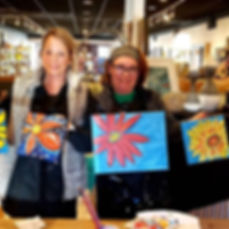 Fun paint classes with these gals!!! Bea