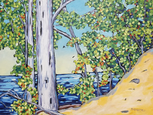 """""""Overlooking the Lake"""" Original Oil Painting on Canvas"""