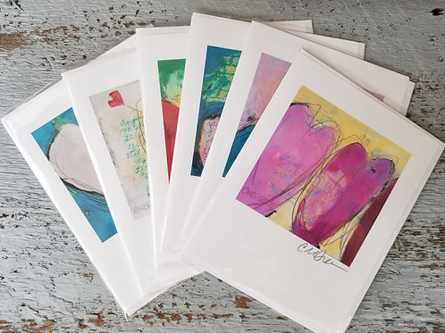 Heart Notecards Signed by Christi Dreese