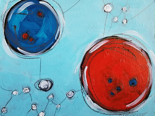 """The Spread: Pandemic and Political"" Original Mixed Media Painting"
